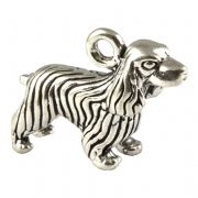 Cocker Spaniel Large 3D Sterling Silver Charm
